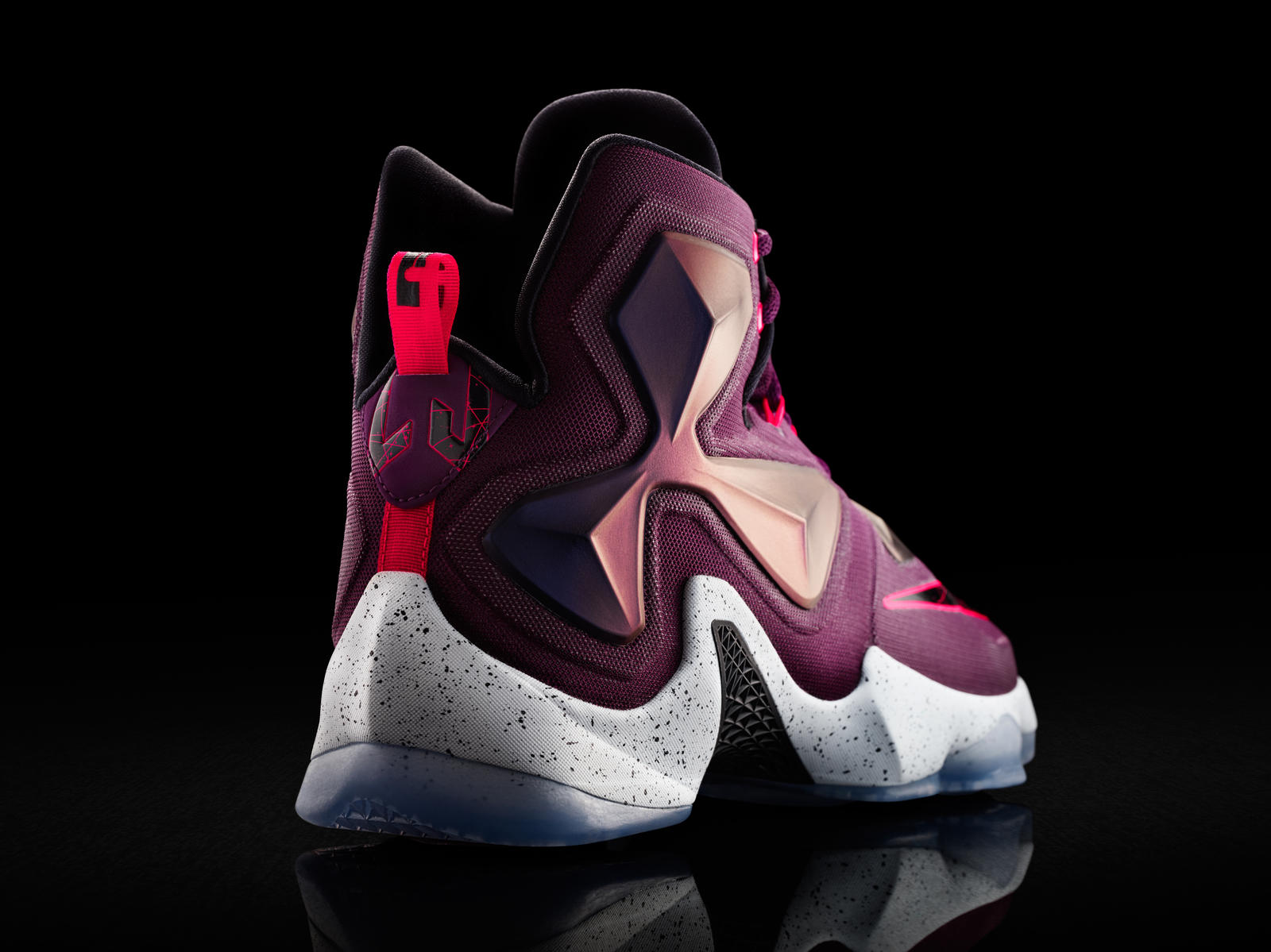 1890bec3fc9c 15-480 Nike LeBron 13 0168-03 native 1600. Hyperposite on the midfoot and collar  adapts to the forceful torque exerted by James at top speed. Wrapping ...