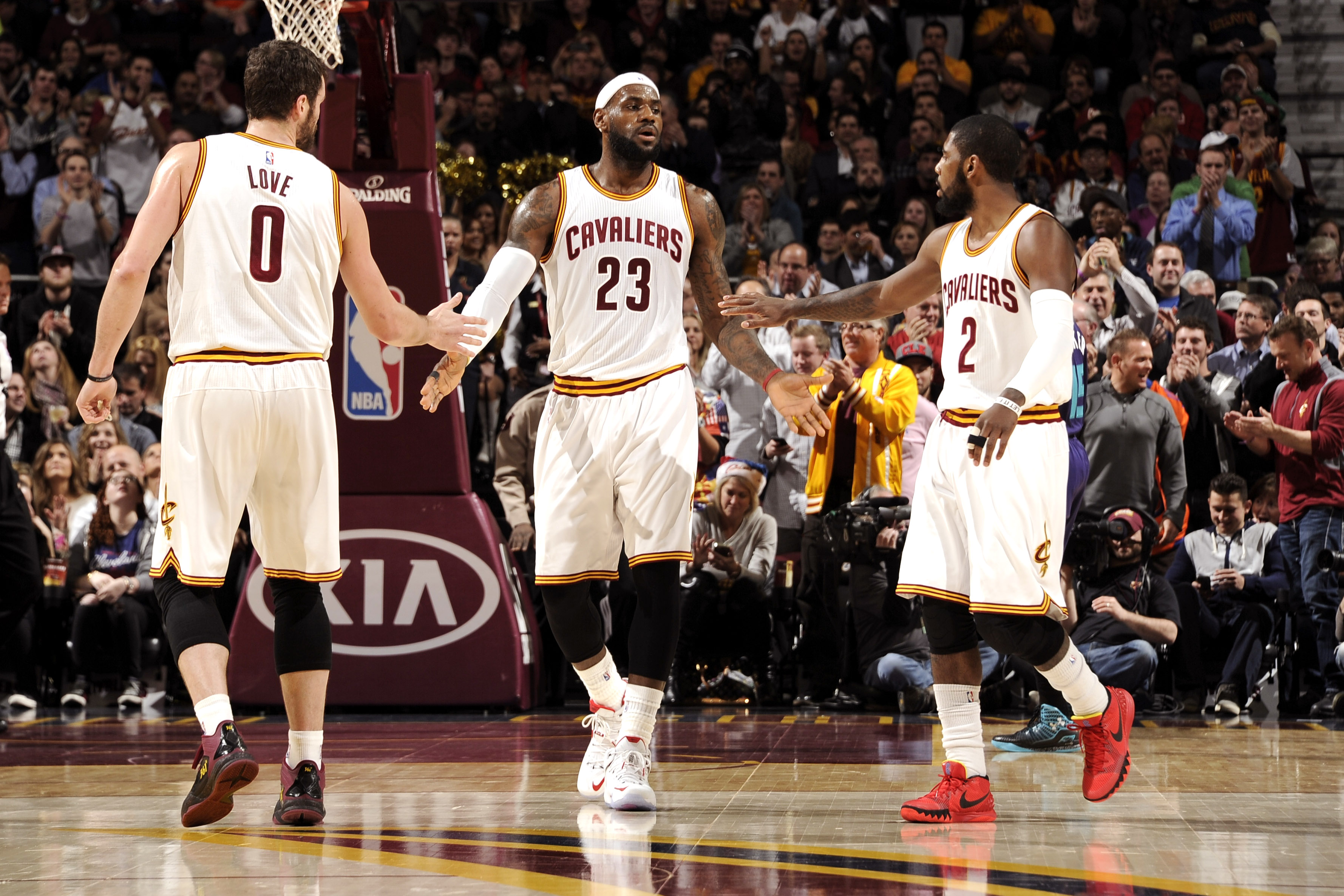 Kevin Love - LeBron James - Kyrie Irving