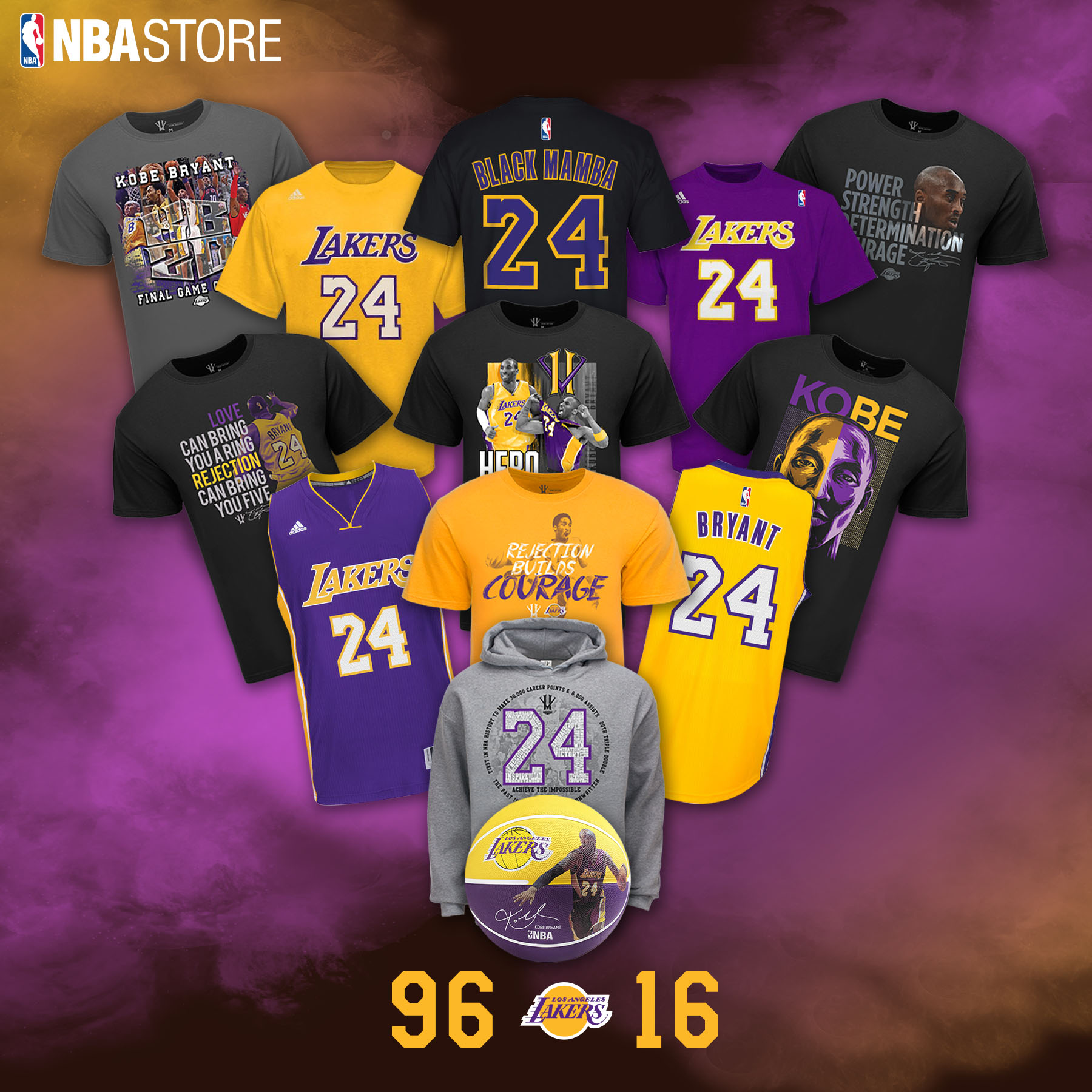 LOOK  New Kobe Bryant  KB20  merchandise available now at NBA Store ... 9e00b863c781
