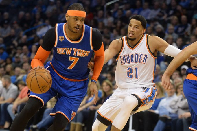 report  carmelo anthony traded to okc for a package