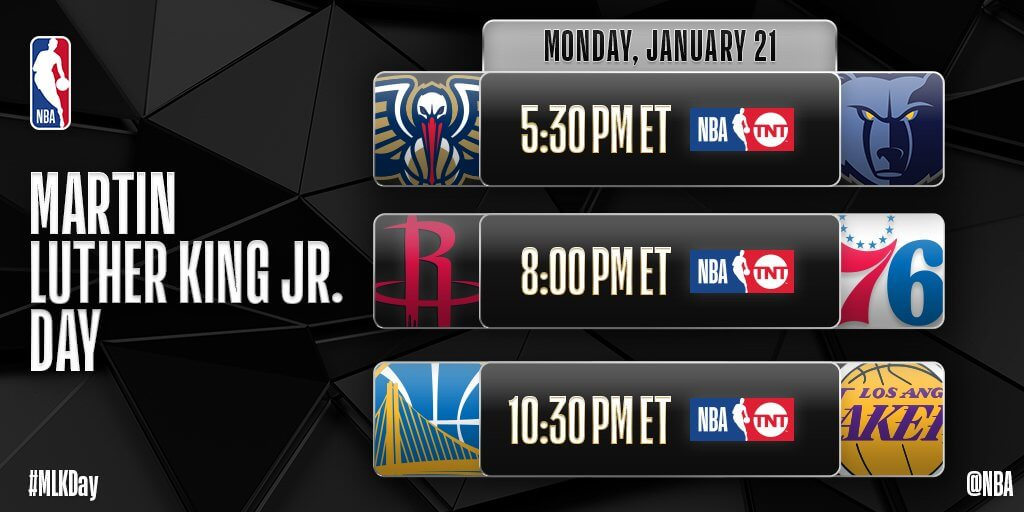 Nba Christmas Day Schedule.Nba Reveals 2018 2019 Tip Off Christmas Day And Mlk Day