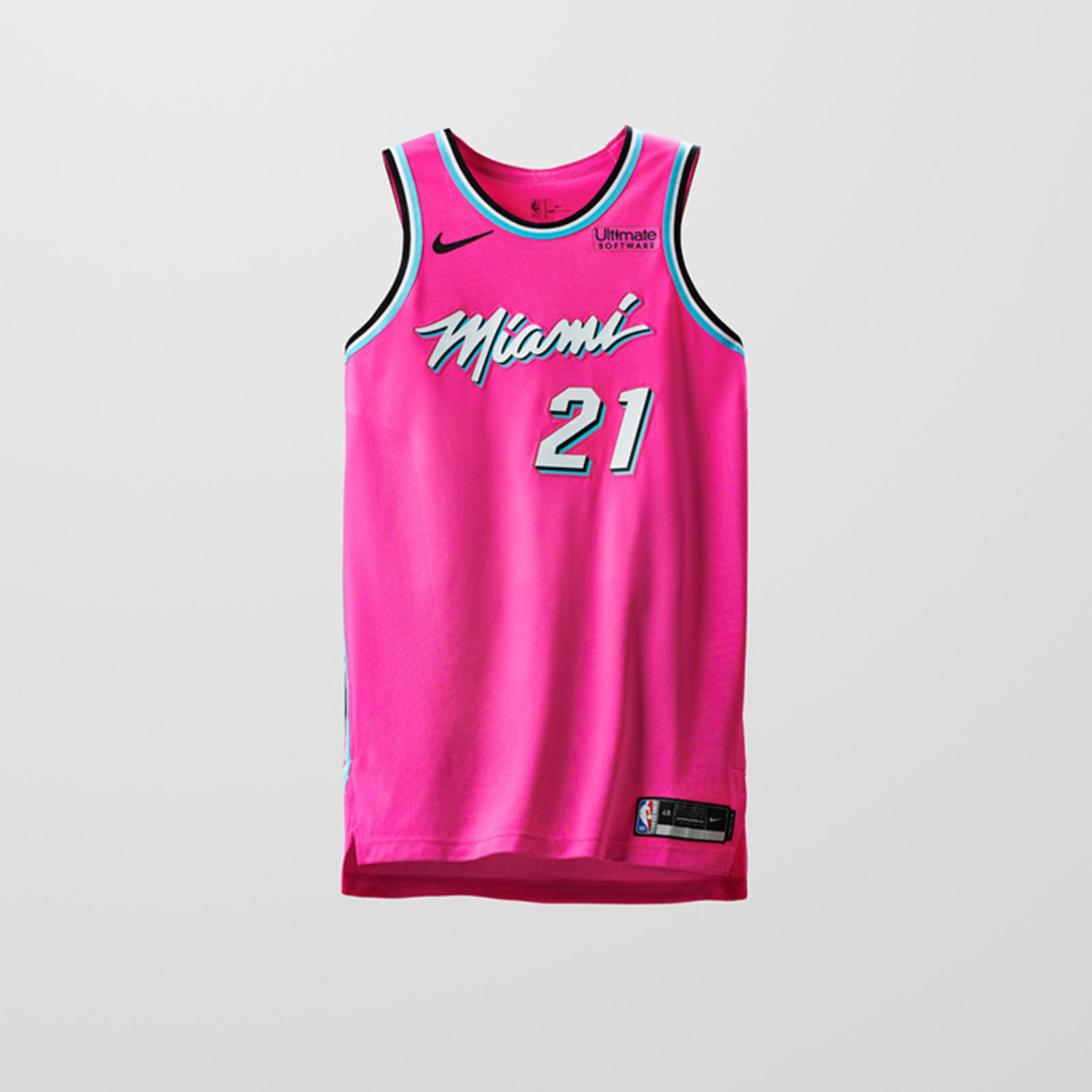 02d09debdf5 The energy of South Beach nightlife is front and center on Miami s Earned  Edition uniform with its neon pink base.