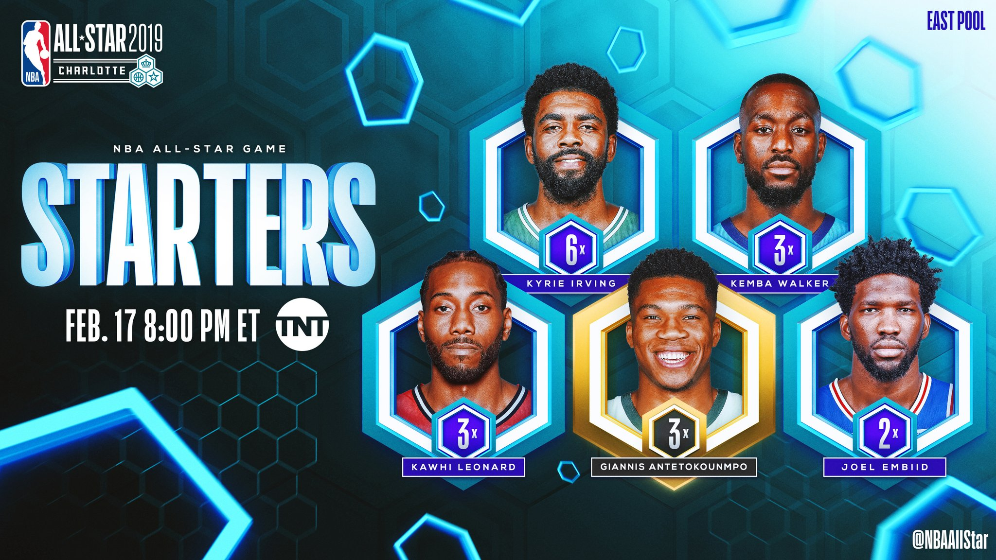Antetokounmpo, James, Curry and Irving lead 2019 NBA All ...