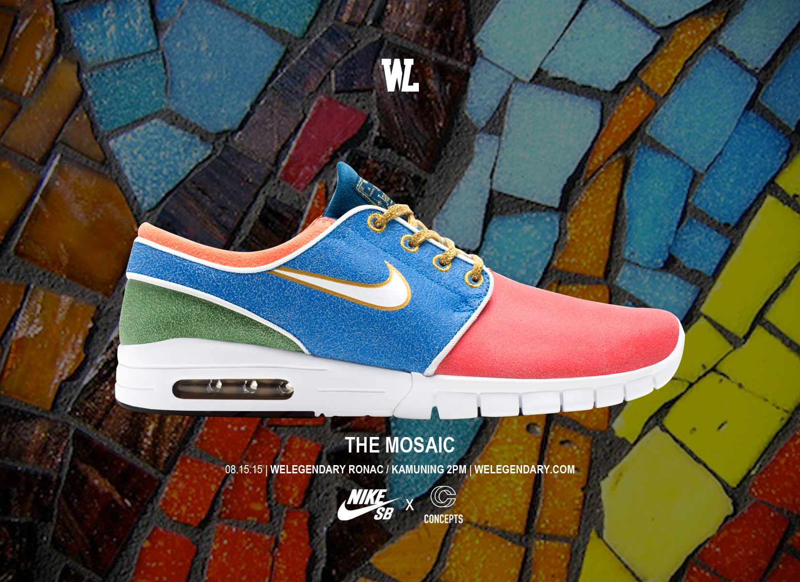 timeless design 0d9e6 86b66 weLegendary is dropping the Nike SB Janoski Max x Concepts  Mosaic ...