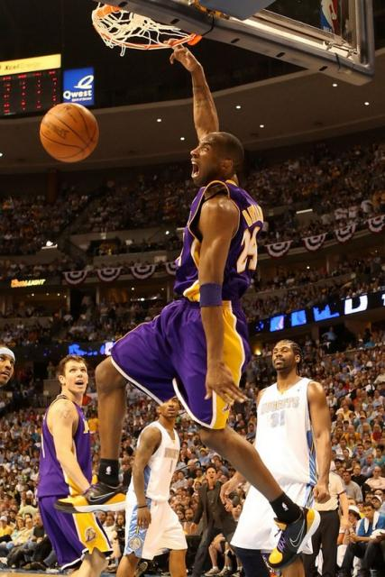 Kobe Bryant monster dunk picture with